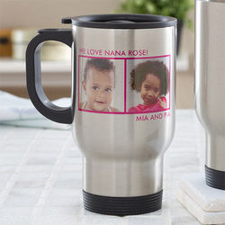 Personalized 2-Picture Travel Mug