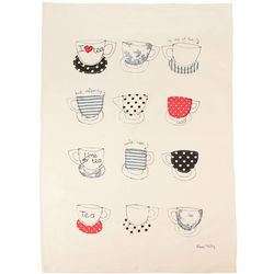 Teacups Cotton Kitchen Towel