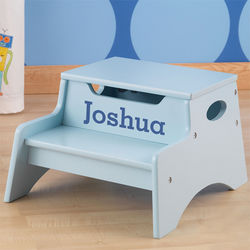 Personalized Kid's Sky Blue Step Stool