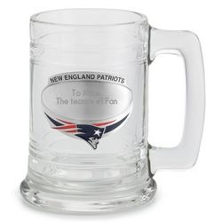 Engraved New England Patriots Beer Mug