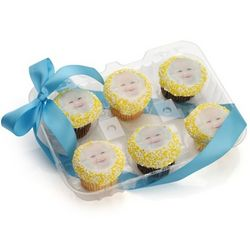 Personalized Picture Cupcakes Gift Box