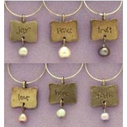 Pearls of Wisdom Wine Charms