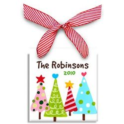Personalized Sassy Trees Christmas Ornament