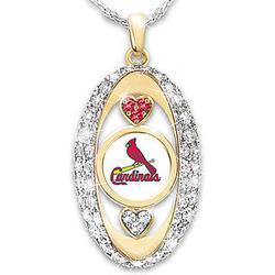 St. Louis Cardinals Swarovski Crystal Pendant