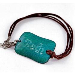 Monogrammed Wood Bracelet