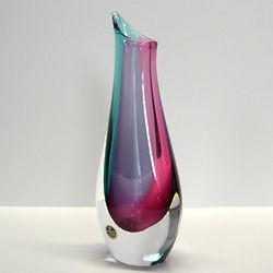 Graceful Dual Color Crystal Vase