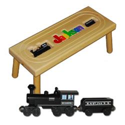 Toy Locomotive Train Puzzle Stool