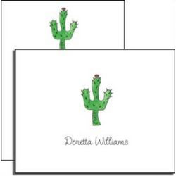 Personalized Everyday Notes Blooming Cactus
