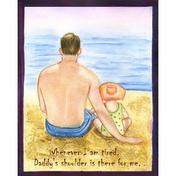 Beach Day with Daddy Fine Art Print