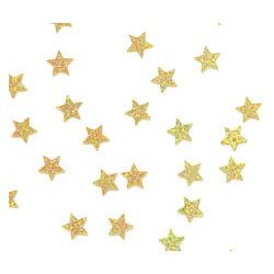Gold Sparkle Stars Confetti