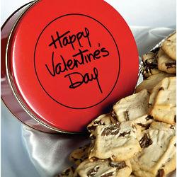Valentine's Greeting Sugar Free Cookies Tin