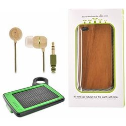 iPhone 4 Wood Case Bundle Package