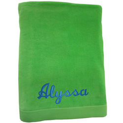 Heavy Jumbo Size Velour Beach Towel
