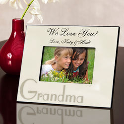 We Love You Grandma Personalized Parchment Picture Frame