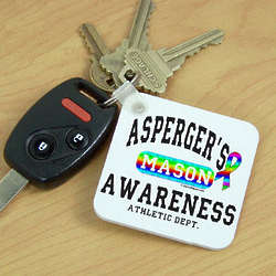 Asperger's Awareness Athletic Department Key Chain