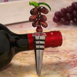 Art Deco Murano Grapes Design Wine Stopper