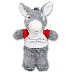 Ruddly Donkey Promotional Stuffed Animal