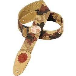 Levy's Cotton Guitar Strap Desert Camo