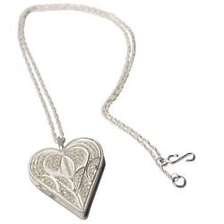 Loving Heart Silver Locket Necklace
