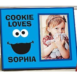 Personalized Cookie Monster Big Face Frame