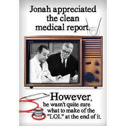 Clean Medical Report Birthday Card
