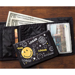 Personalized Smiley Face Kid's Wallet