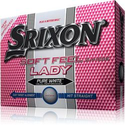 Lady's Personalized Soft Feel White Golf Balls