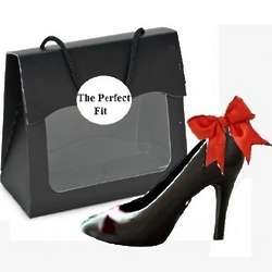 Gourmet Chocolate Black High Heel in Black Purse