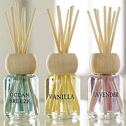 Ocean Breeze, Vanilla, and Lavender Oils Reed Diffusers