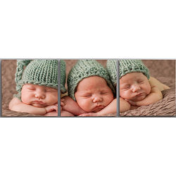 3 Panel Split Photo Square Canvas Prints