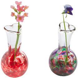 Tiny Glass Heart Vase