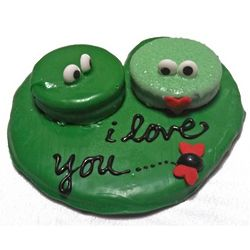 Froggy Love Hand-Decorated Cookie