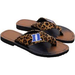Duke Blue Devils Women's Cheetah Strap Flip Flops