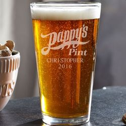 Pappy's Pint Personalized Beer Glass