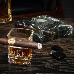 Classic Monogram Engraved Cigar Lover's Gift Set