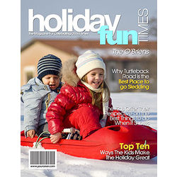 Holiday Fun Personalized Magazine Cover