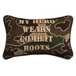 My Hero Wears Combat Boots Pillow