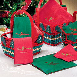 Personalized Holiday Cocktail Napkins