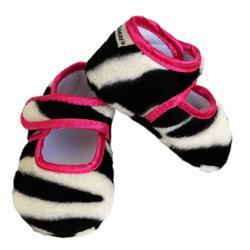 Zoe Zebra Girl Baby Booties