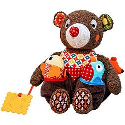 Woodours Baby Activity Plush Bear