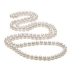 White Baroque 5.5mm Freshwater Pearl Necklace