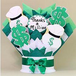 Thanks a Million Cookie 5 Piece Bouquet