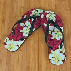 Red Hawaii Luau Beacher Sandal