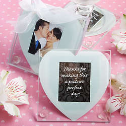 Heart Design Glass Photo Coaster