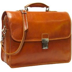 Cortona Italian Leather Laptop Briefcase