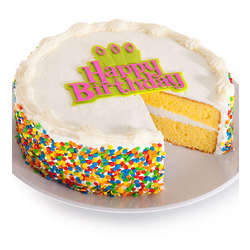 Vanilla Gourmet Happy Birthday Cake