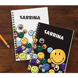 Personalized Smiley Face Mini-Notebooks