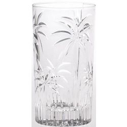 Crystal Palm Highball Glasses