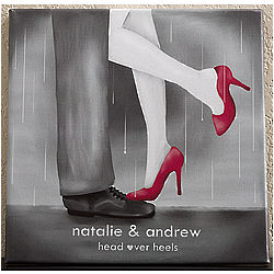 Personalized Head Over Heels Canvas Wall Art