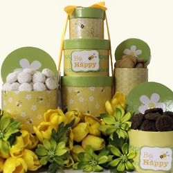 Be Happy Gourmet Treat Gift Tower